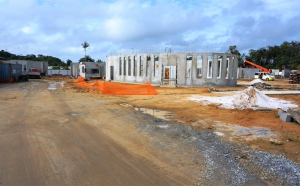 [Constructions scolaires] : poursuite des travaux de l'école des Hauts de Balaté