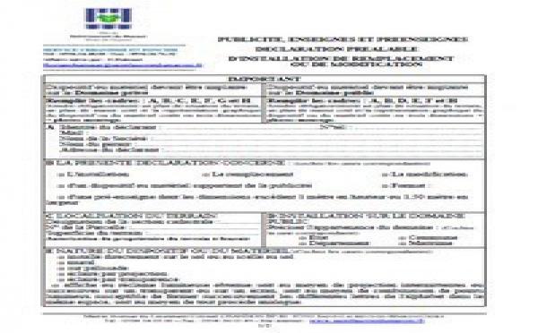 Déclaration préalable d'installation, de remplacement, ou de modification d'enseignes et préenseignes publicitaires