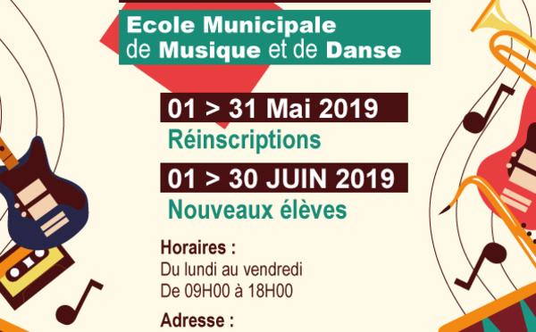 [Ecole municipale de musique et de danse] : lancement de la campagne d'inscriptions 2019/2020