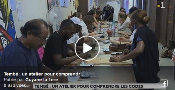 [Patrimoine] : retour en vidéo avec #guyanela1ere sur les ateliers du patrimoine organisés par la Ville de Saint-Laurent du Maroni avec l'artiste Joseph AMETE autour de l'art tembé.