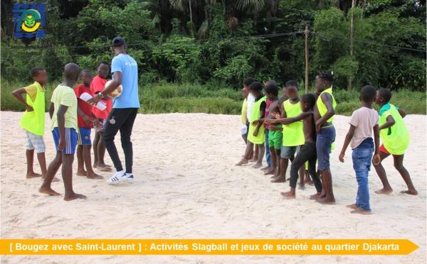 [Bougez avec Saint-Laurent] : Slagball et jeux de société avec l'association Ouest Sport Guyane