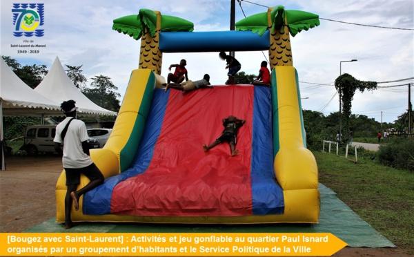 [Bougez avec Saint-Laurent] : retour en images sur les jeux gonflables organisés au quartier Paul Isnard