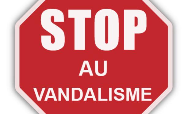 [CITOYENNETÉ] : disons STOP aux actes de vandalisme et d'incivilité