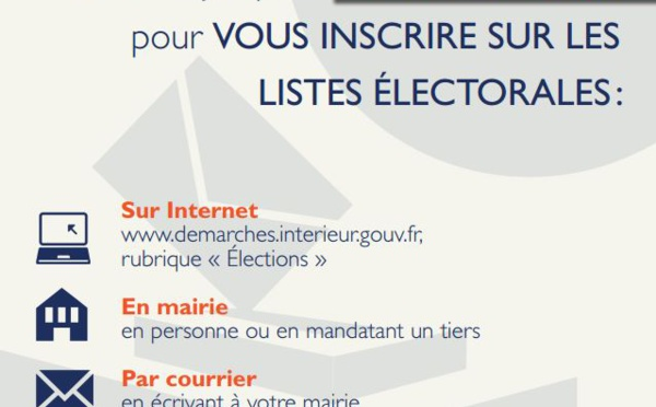 [ELECTIONS] : informations pratiques relatives aux élections municipales des 15 et 22 mars prochains