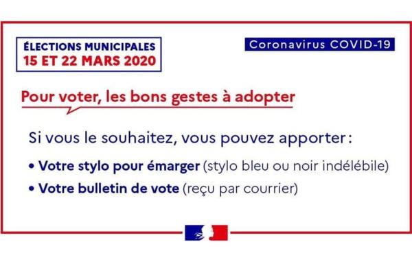 [#coronavirusguyane] : pour les élections municipales, adoptez les bons gestes pour vous protéger et protéger les autres