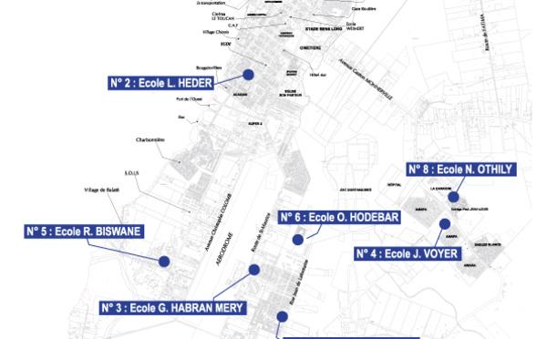 [Elections municipales et communautaires] : emplacement des bureaux de vote de Saint-Laurent du Maroni pour les élections des 15 et 22 mars 2020