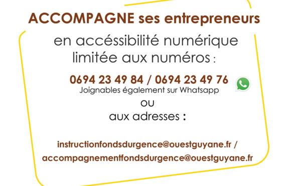 [Economie] : Ouest Guyane accompagne les chefs d'entreprises, artisans, commerçants, professions libérales et agriculteurs de l'Ouest guyanais pour saisir leur demande au #FondsdurgenceeconomiquedesterritoiresdeGuyane.