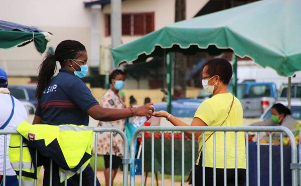 [#marché] : la réouverture du marché de Saint-Laurent du maroni placée sous le signe de la prévention