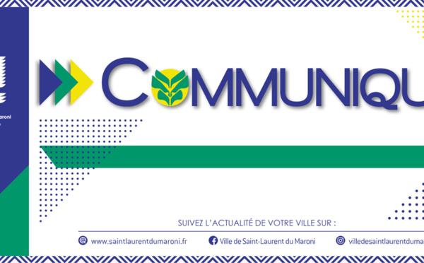 #Communiqué : Le marché central de #saintlaurentdumaroni est maintenu le mercredi 11 novembre 2020 de 7h à 12h à son emplacement habituel.