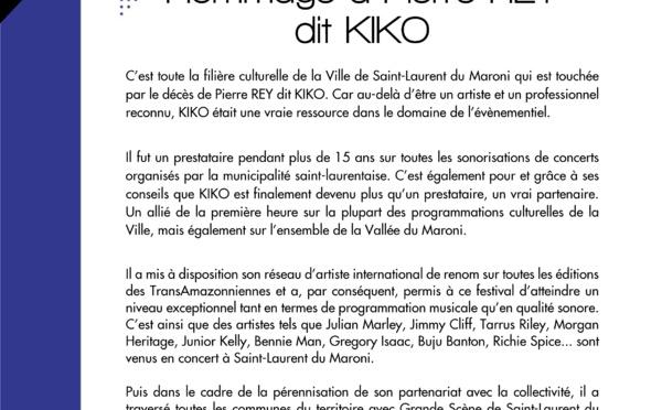 #Communiqué : Hommage à Pierre REY dit KIKO