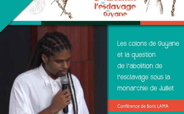 """#Conférence : """"Les colons de Guyane et la question de l'abolition de l'esclavage sous la monarchie de Juillet""""."""