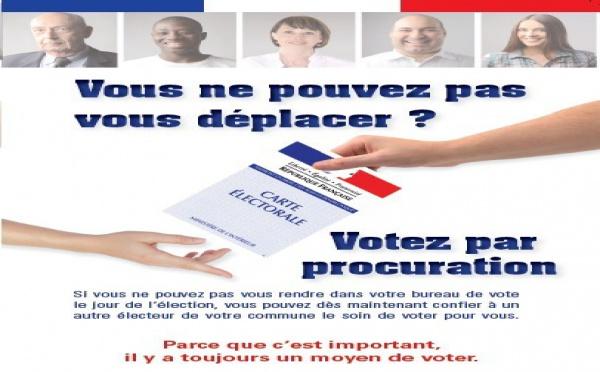 Vous ne pouvez pas vous déplacer, votez par procuration