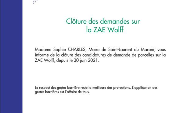 #Communiqué : Clôture des demandes pour la ZAE Wolff