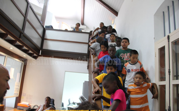 Visite de la Mairie avec les élèves de l'école Giffard