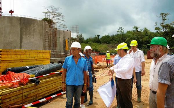 Visite du chantier de la nouvelle station d'épuration