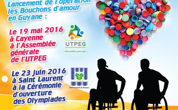 """Handisport - 23 juin 2016 : lancement de l'opération """"Les bouchons d'amour"""" dans le cadre des Olympiades"""
