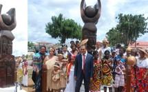 Inauguration de la stèle du soixantenaire de la ville
