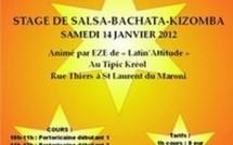 Stage de SALSA BACHATA  KIZOMBA à Saint - Laurent du Maroni, ce Samedi 14 janvier 2012.