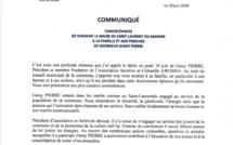 [#Condoléances] : Madame le maire de la Ville de Saint-Laurent du Maroni présente ses condoléances à la famille et aux proches de Monsieur Garey PIERRE