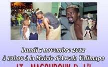 Grand spectacle de Contes pour enfants à Awala Yalimapo, le 05 novembre 2012