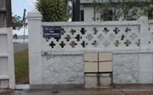 Acte de vandalisme sur le coffret d'Eclairage Public EP54 devant la résidence de la sous-préfecture de Saint-Laurent du Maroni.