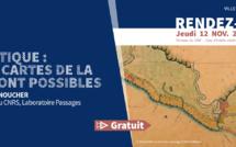 """#Jeudisdupatrimoine : conférence """"Atlas critique : d'autres cartes de la Guyane sont possibles"""" le jeudi 12 novembre"""