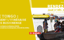 """#Jeudisdupatrimoine : conférence """"Le Nenge tongo : Les Mots disent l'itinéraire des Marrons Bushinenge"""" le jeudi 17 décembre"""