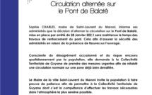 #Circulation alternée sur le Pont de Balaté