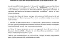 #Communiqué : L'Association des Maires de Guyane réagit aux propos de la directrice générale de l'ARS