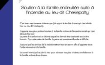 #Communiqué : La municipalité soutient la famille endeuillée suite à l'incendie au lieu-dit de Chekepatty