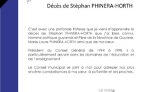 #Communiqué : La municipalité soutient la famille de Stéphan Phinera-Horth