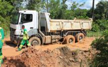 Intervention des services techniques sur la route de Fatima