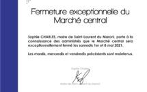 #Communiqué : Fermeture exceptionnelle du Marché central